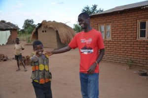 January with a young boy from his Bible class who had just recited 21 scripture verses