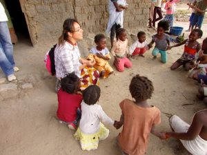 Chrisyanell leading kids in song